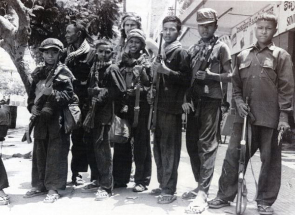Khmer Rouge Guerrilla soldiers